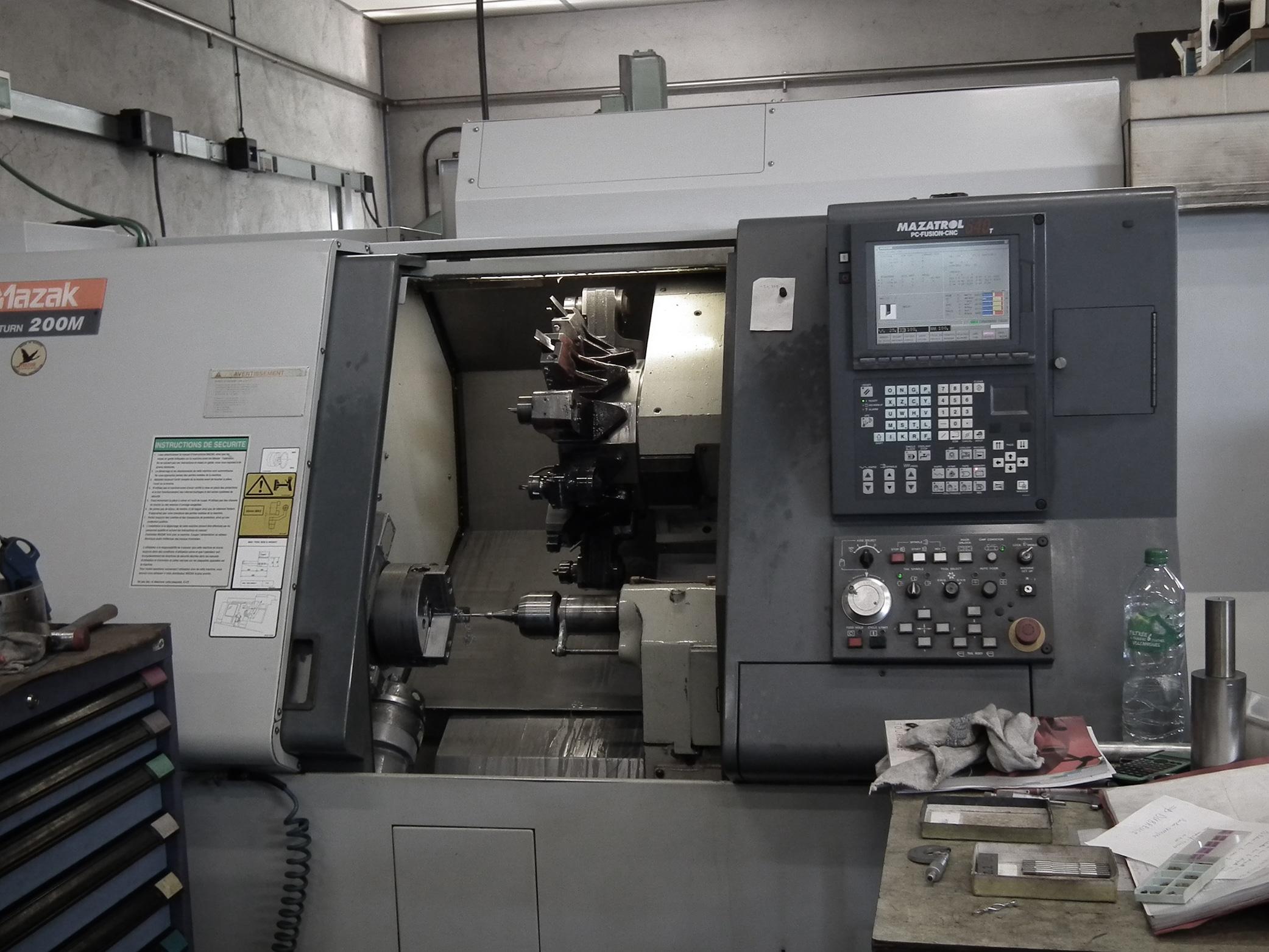 Ets DUBREUCQ mécanique générale fraisage tournage rectification précision mécano soudure parachevement Mazak QT 200